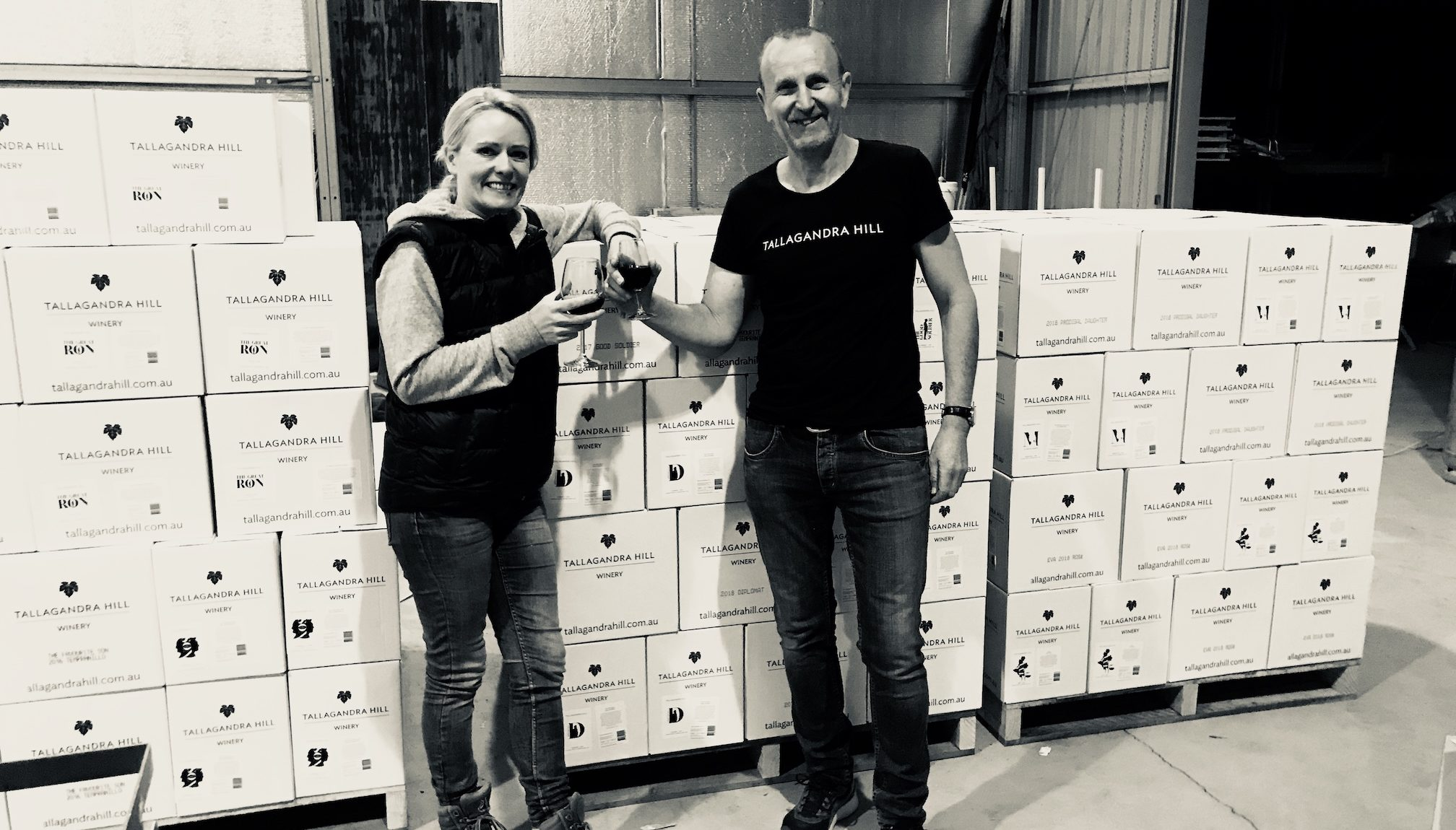 Tallagandra Hill wines about to leave for export to the UK